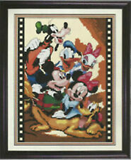 "NEW Cross Stitch Kits"" Cartoon Mickey Mouse and Donald Duck"""