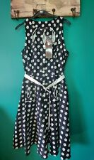 Ladies Voodoo Vixen Vintage style Pin Up Style Dress Size L