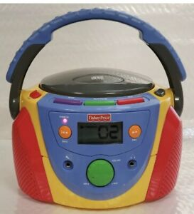 VIntage Fisher Price Portable Disc CD Player Tuff Stuff KID Boombox WORKS. CLEAN