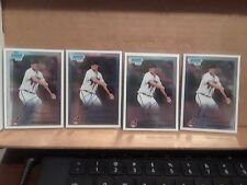 4) lot LOT 2010 DREW POMERANZ Bowman Chrome Autograph Auto Rookie RC Base