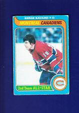 Serge Savard HOF 1979-80 O-PEE-CHEE OPC Hockey #101 (VGEX+) Montreal Canadiens