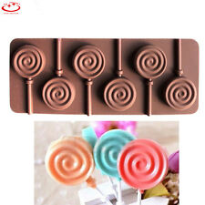 6 Cavity Candy Chocolate Bar Silicone Mold Lolly Lollipop Cake Decorating Tool