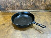 "Vintage  CAST IRON CHICKEN FRYER 10""  SKILLET w Heat Ring   8"