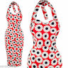 SARAH-P HOURGLASS RETRO FLORAL WIGGLE PENCIL HALTER PARTY DRESS SIZE 10-20 NEW