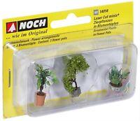 14018 Noch HO, Zierpflanzen in Blumenkübeln, Laser-Cut minis, Modelleisenbahn