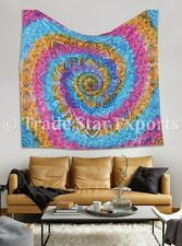 Large Lotus Tapestry Indian Tie Dye Psychedelic Wall Hanging Boho Cotton Bedding