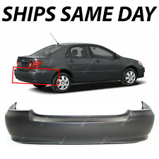 NEW Primered - Rear Bumper Cover for 2003-2008 Toyota Corolla Sedan 03-08