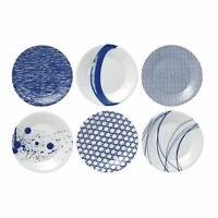 Royal Doulton Pacific Tapas Plates, 6.3-Inch, Blue, Set of 6