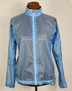 Vtg~Nike~Blue Nylon Lightweight Vented Full Zip Windbreaker Jacket ~Womens M~EUC