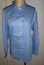 Classic Collar Checked Petite Tops & Shirts for Women