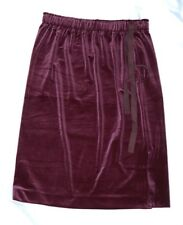 Ann Taylor women's skirt purple velvet size 8 elastic waist mid-calf new