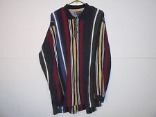 A48 Chaps Ralph Lauren Mens Size XL Striped Long Sleeve Knit Polo Rugby Shirt