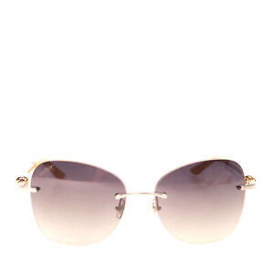 RRP€970 CARTIER Rimless Butterfly Sunglasses Knots Motif Gradient Made in France