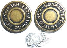 10 x Brass Denim Jeans Waist Buttons Stud Hammer On For Repair Replacement