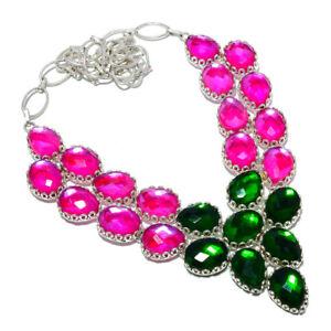 "Rainbow Mystic Topaz 925 Sterling Silver Jewelry Handmade Necklace 17.99"" S1999"