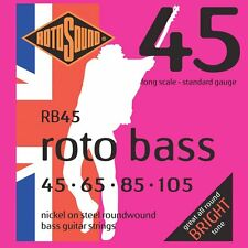 Rotosound RB45 Nickel Unsilked Electric Bass Guitar Strings 45-105