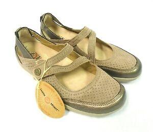 Earth Spirit BNWT Genuine Leather Shoes Brown Metallic Comfort Flat Shoes, UK 6