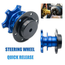Blue Car Steering Wheel Quick Release Hub Adapter Snap Off Boss Kit Universal