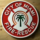 Fire Department City of Miami 3D routed wood patch sign Custom