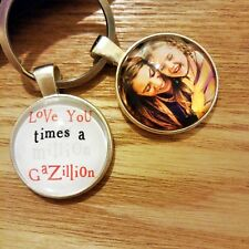 Personalised Photo Keyring Love U times Million Gazillion Birthday Gift Present