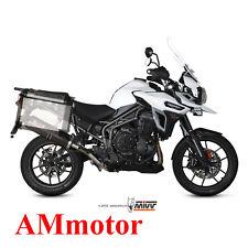 Mivv Triumph Tiger Explorer 1200 2017 17 Escape Silenciador Moto Oval Carbon Cap