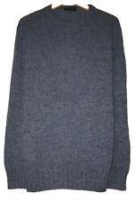 Valentino Jeans Mens Size XL Blue Long Sleeve Knit 100% Wool Sweater Romania euc