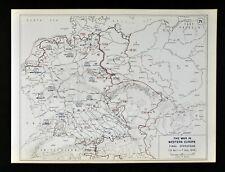 West Point WWII Map Final Push Battle of Berlin Hamburg Nuremberg Leipzig Dessau