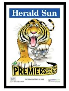 MARK KNIGHT HERALD SUN RICHMOND 2020 POSTER FRAMED