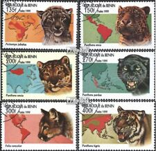 Benin 1192-1197 (complete issue) used 1999 Big Cats