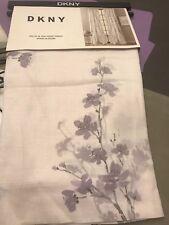 New Dkny 2 Panels Window Curtain Ds Spring Blossom White Purple Fl 50x84