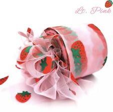 6cm 25 Yards Strawberry Tulle Ribbon Roll, Craft Supplies