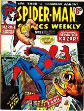 SPIDER-MAN COMICS WEEKLY #52 - 1974 UK B&W Marvel -  Jack Kirby IRON MAN & THOR