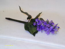 Flower Pen--Lilac--Purple Flowers--Handcrafted--Black Ink---NEW