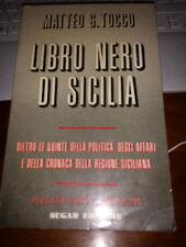 LIBRO NERO DI SICILIA MATTEO G. TOCCO sugar editore 1^ediz 1972 brossurato