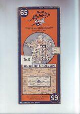 carte routiere 65 revisée en 1940 - auxerre /dijon - au 200 000e