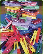 50 STÜCK Wäscheklammern aus HOLZ bunt gemischt in TOP QUALITÄT 80-88