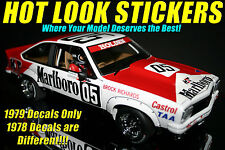 1:18 Peter Brock 1979 Bathurst Winner MISSING VINYL Decals A9X Torana Biante