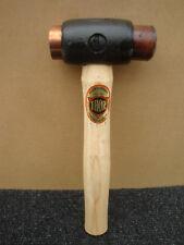 THOR SIZE 1 COPPER & RAWHIDE HAMMER MALLET WOODEN HANDLE 03-210