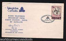 NEPAL 1982 TELE GLOBE AIR CANADA RADIO TV SATELLITE MOUNT EVEREST EXPEDITION SGN