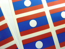 Mini Sticker Pack, Self-Adhesive Laos Flag Labels, FR160