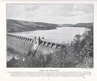 1897 Vittoriano Stampa ~ Vyrnwy Lago North Galles Reservoir ~ Forti ( Testo