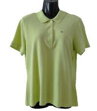 Polo Lacoste da donna taglia 44 verde cotone a manica corta t shirt maglietta