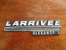Larrivee Alexandria Minnesota MN Car Dealer Plastic Emblem Badge Plate Auto