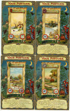"""Complete Set of 12 """"Your Fortune"""" Cards Months, Jewel, Disposition Etc."""