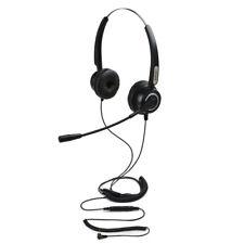 Over the Head Hands-free 2.5mm Binaural Telephone Headset w/ Noise Canceling Mic
