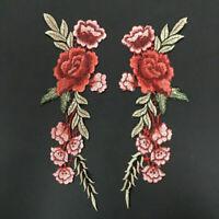 28.5*11cm 1 paar Blumen Rosen Aufbügler Bügelbilder Patches Patch HOT SELL R1I7
