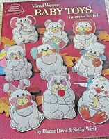 Vinyl Weave Baby Toys In Cross Stitch Pattern Book American school Of Needlework