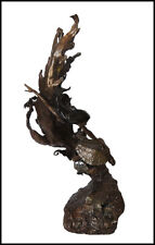 Mark Hopkins Original Sea Maiden Full Round Bronze Sculpture Female Signed Art