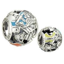 2016 Authentic Pandora Bead Silver Disney Alice's Tea Party Charm 791896ENMX