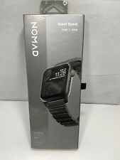 Nomad Steel Watch Band for Apple Watch 42mm and 44mm Metal Black